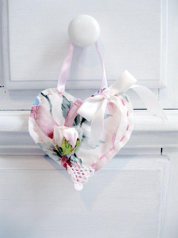 Heart Handmade Heart Hanger Rose Shabby French by mailordervintage
