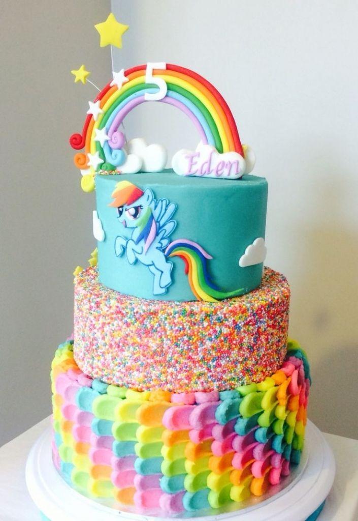 Best 25 Rainbow Dash Cake Ideas On My Little