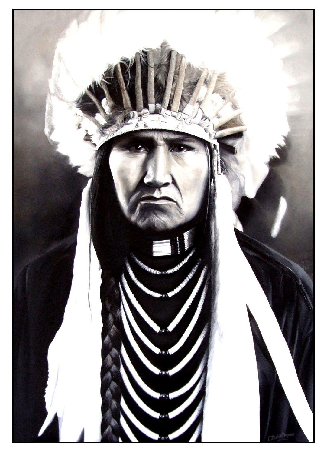 Grand Chef Indien Amerique 2a Partir De La Galerie Indiens