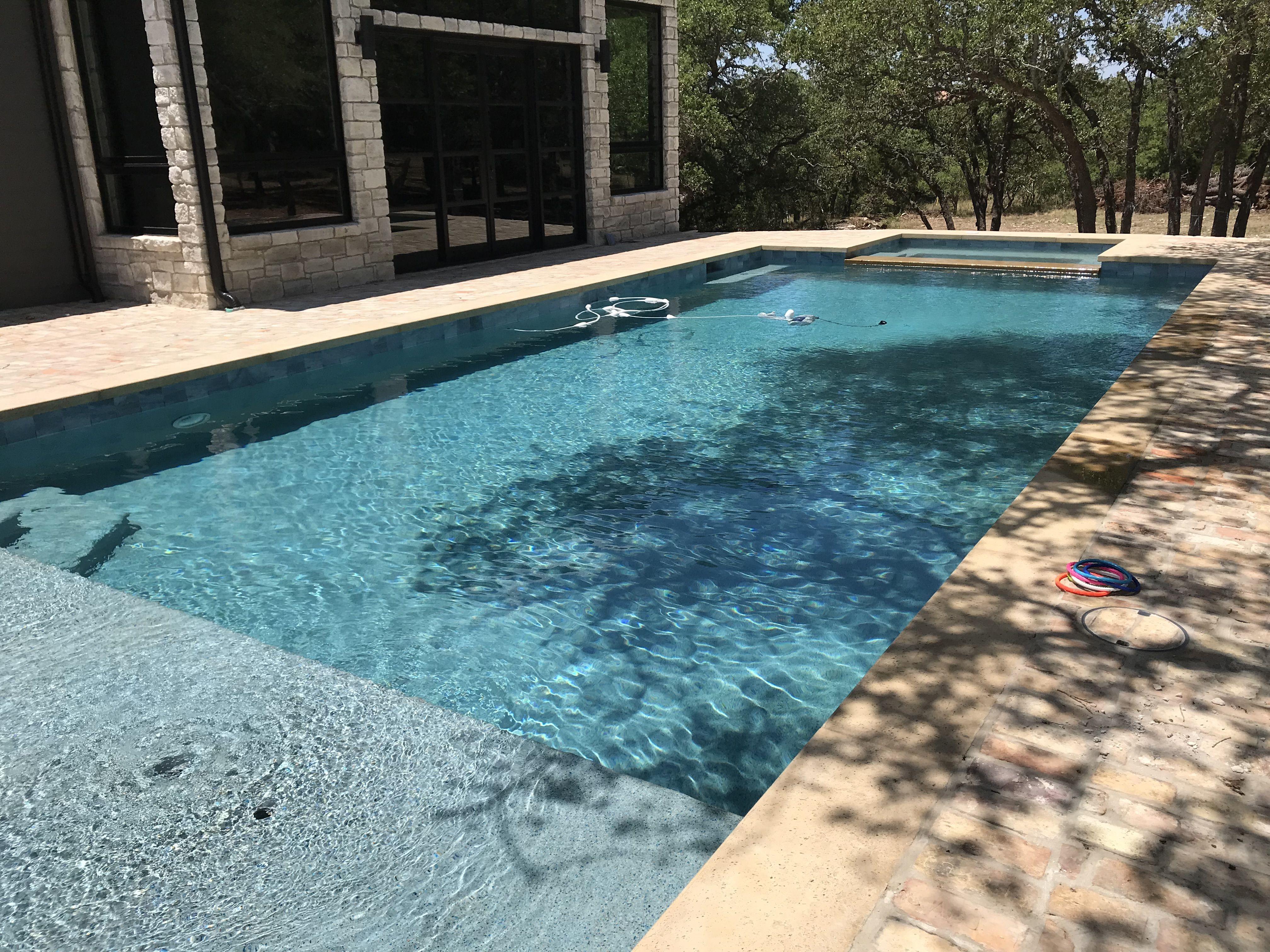 Stonescapes Aqua White w/ Touch of Glass. Elite Pools of ... on Elite Pools And Outdoor Living id=29836
