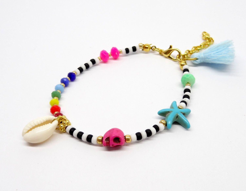 Beaded bracelet, ethnic bracelet, tribal bracelet, boho chic bracelet, bohemian bracelet, seed beads bracelet door HipLikeMe op Etsy https://www.etsy.com/nl/listing/266734777/beaded-bracelet-ethnic-bracelet-tribal