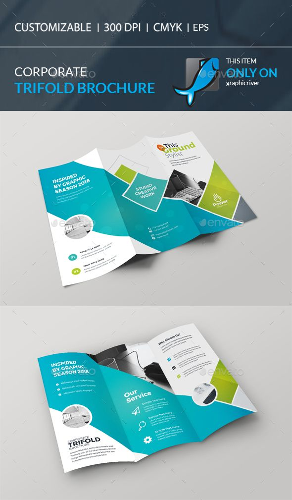 Corporate Trifold Brochure Ai Illustrator Brochures And Template
