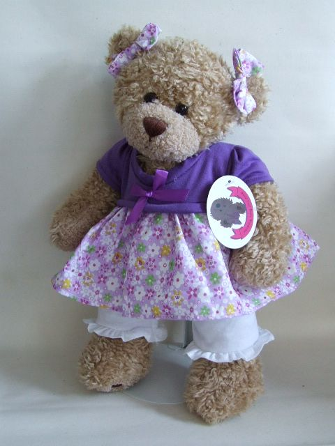 Purple Floral Dress Amp Leggings Kissy Bear Teddy Bear