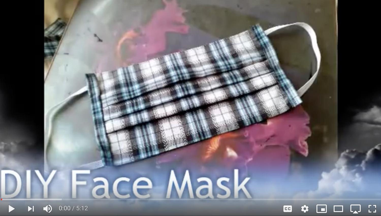 5 Free DIY Face Mask Tutorials using Fabric Sewing