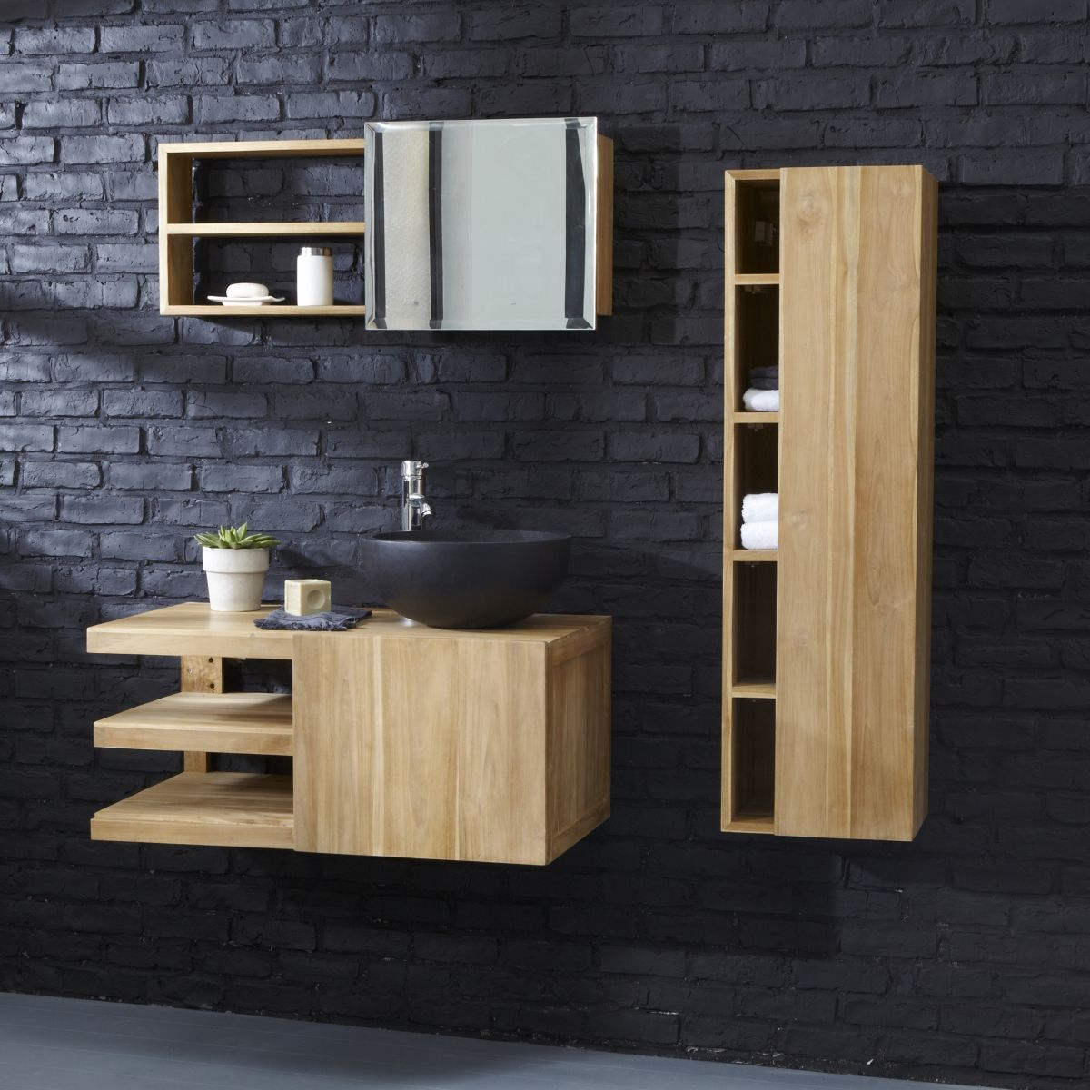 petit meuble salle de bain mural