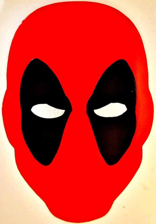 Deadpool Mask Template   Printable Template Deadpool Mask