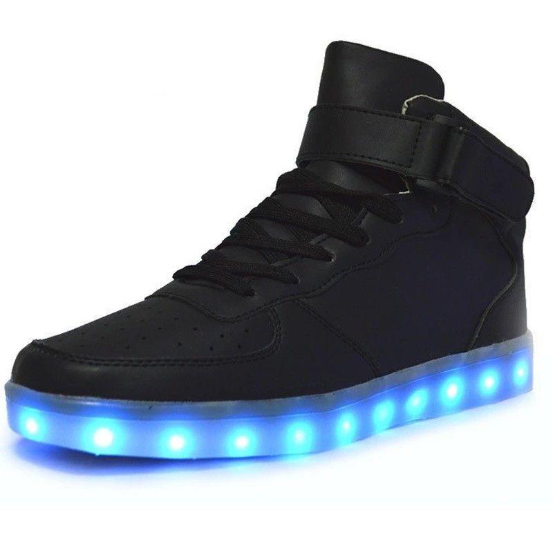 [Presente:pequeña toalla]Rojo EU 44, Ni?as colores 7 Unisex Light Zapatos y Ni?os LED U