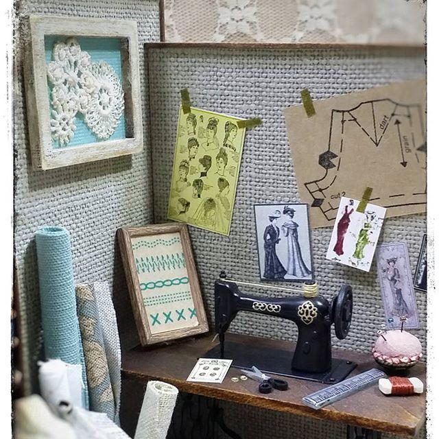 Miniature Sewingroom♡ ♡ My Dollhouse