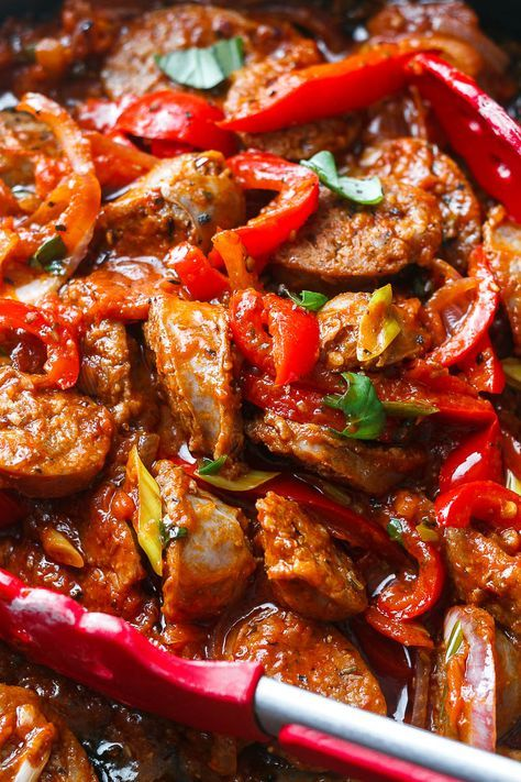 Photo of Italian Sausage and Peppers Skillet