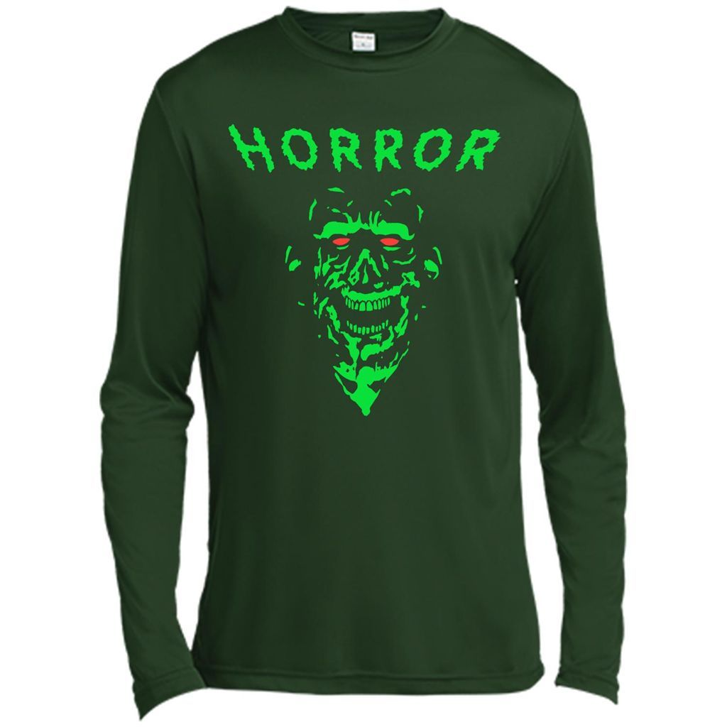 Scary Halloween Spooky Green Zombie Face T-shirt