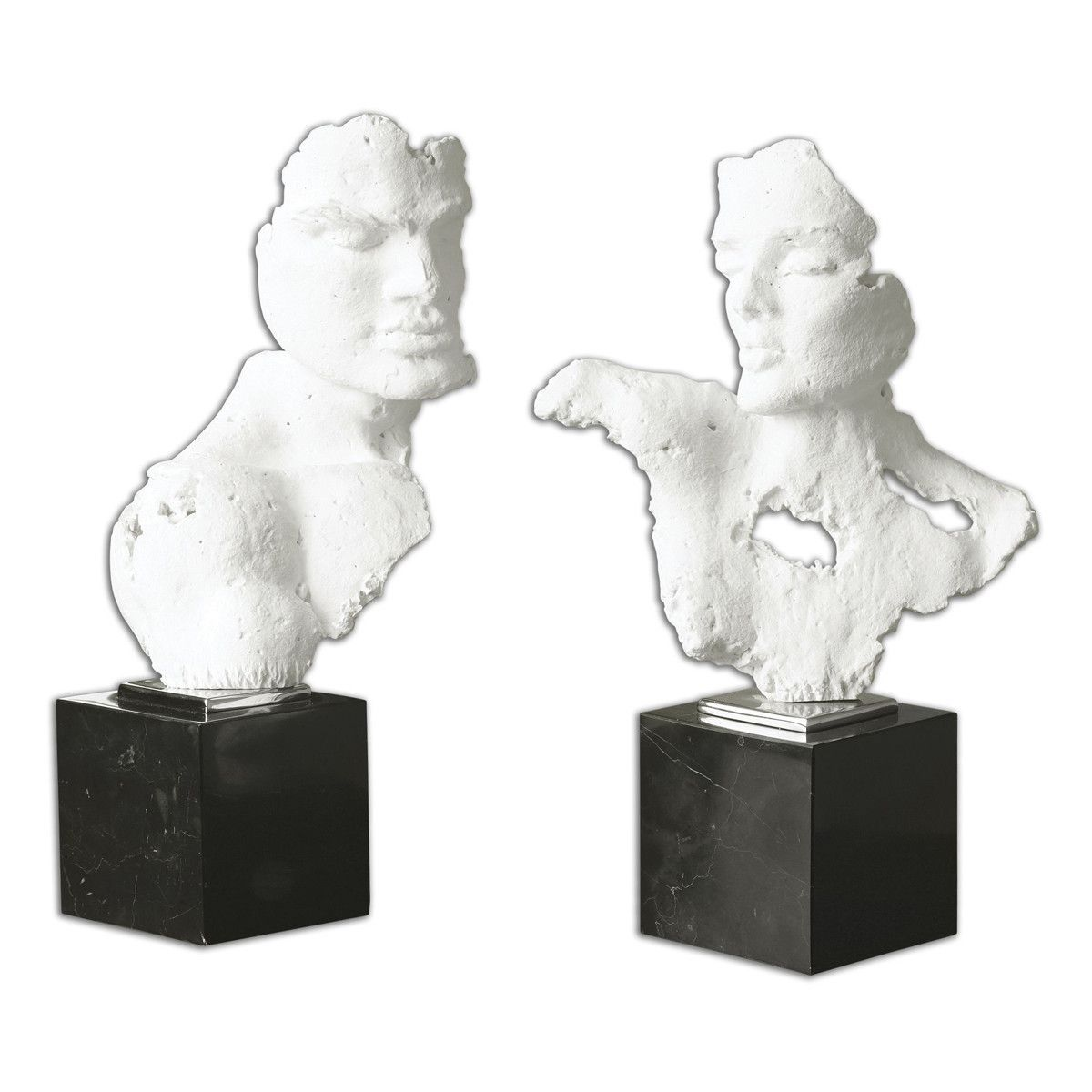 Busts Sculpture, Set of 2