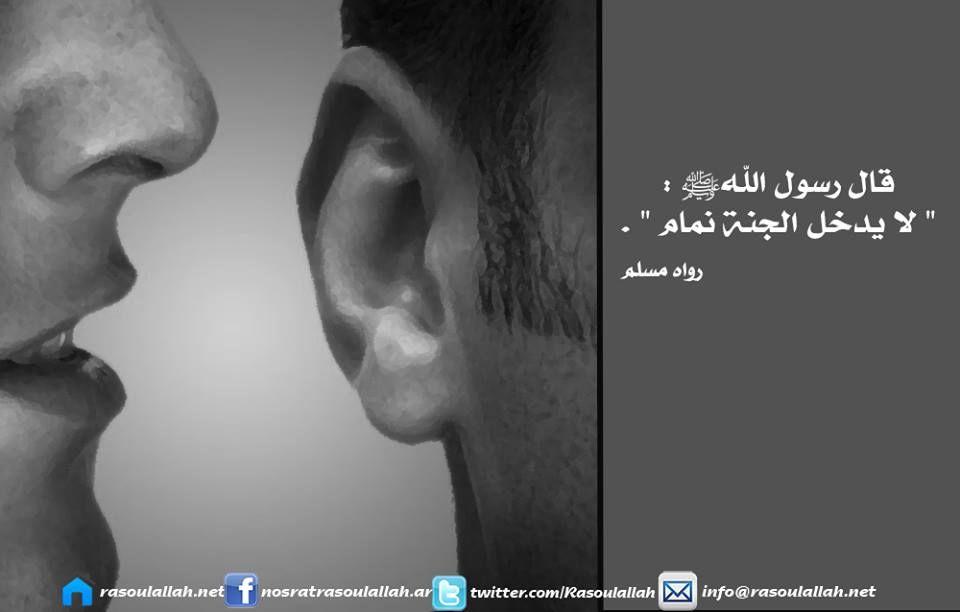 احذر من النميمة فهي من أسباب العذاب في القبر كما ورد عن النبي صلى الله عليه و سلم Arabic Love Quotes Love Quotes Islam