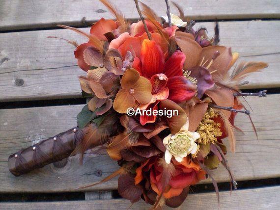 AUTUMN DAWN Wedding Bouquet by Ardesign on Etsy
