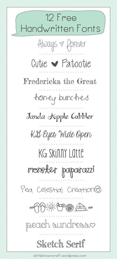 Free Handwritten Fonts  Fonts Cricut And Free