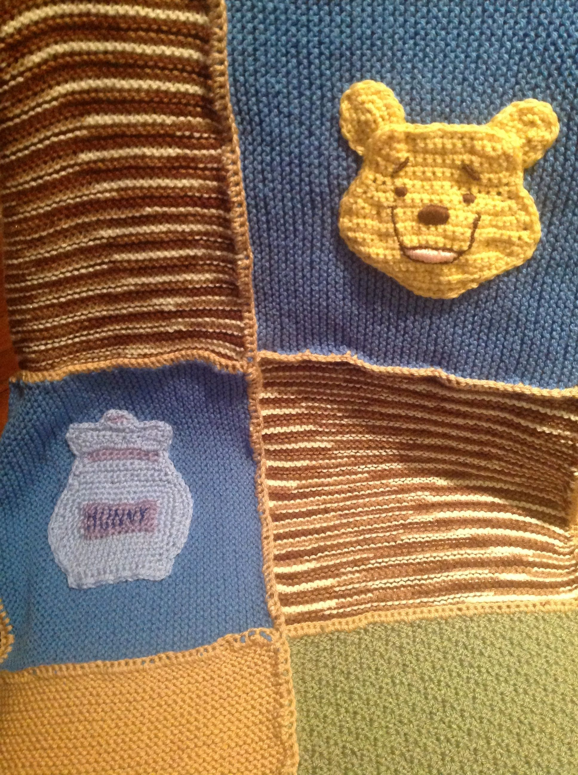 Winnie the Pooh crochet applique. Ravelry coffeekid589 | Craftiness ...
