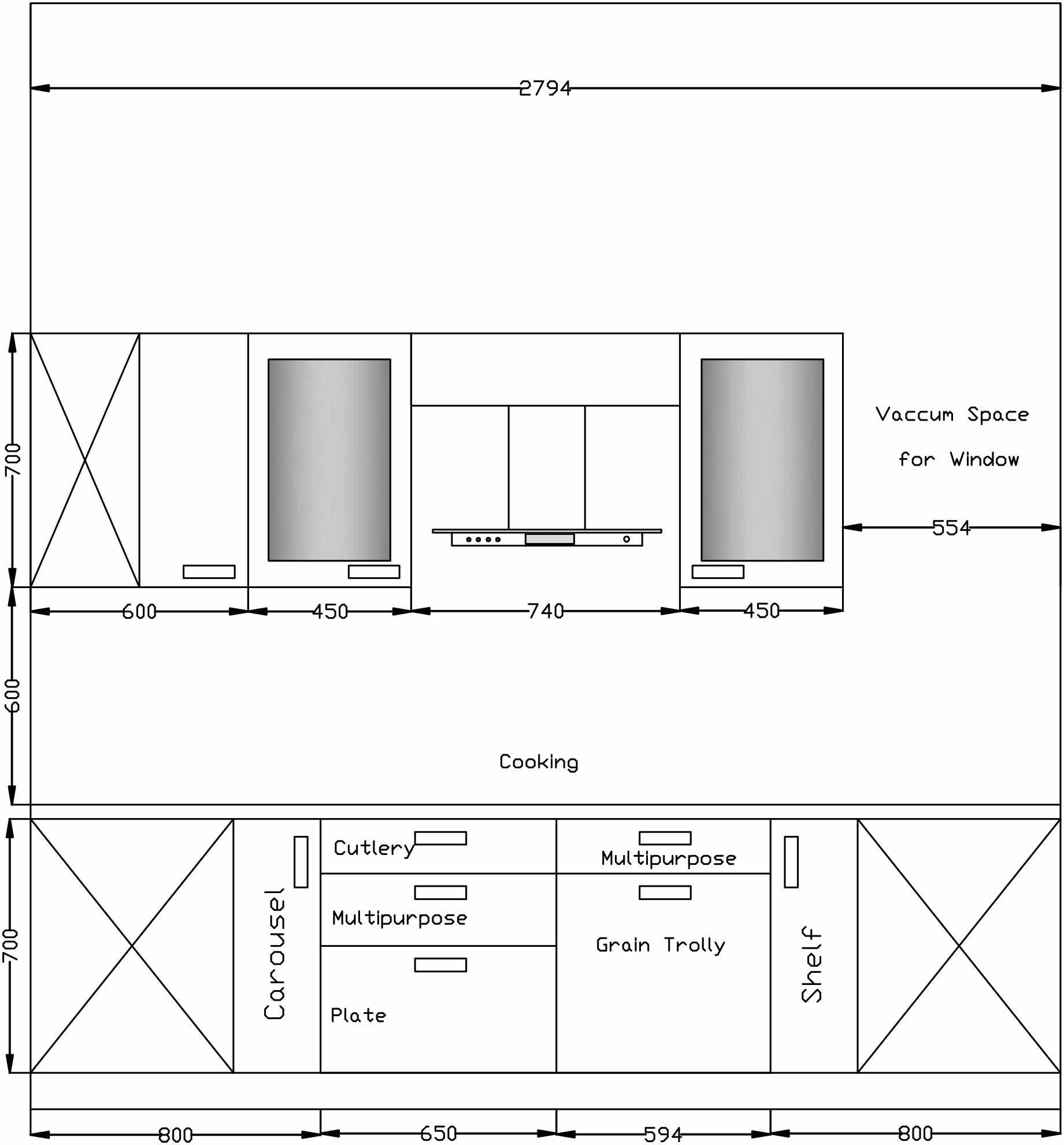 Modular Kitchen Design Drawings   Kitchen layout plans, Kitchen ...