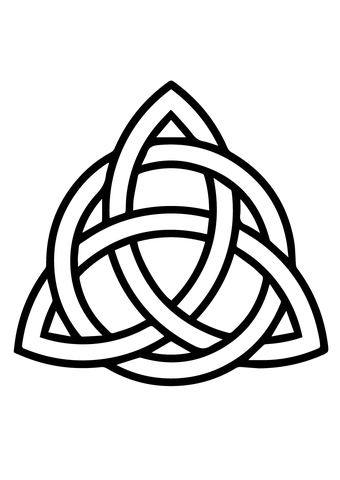 Celtic Triquetra Circle Interlaced Coloring Page Simbolos Celtas