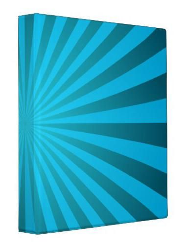 Cyan ray design binder Binder - bill organizer chart