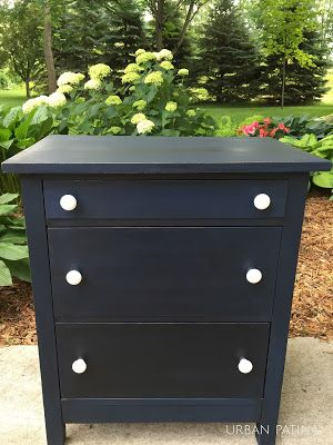 urban patina annie sloan chalk paint napoleonic blue and black wax urban patina completed. Black Bedroom Furniture Sets. Home Design Ideas