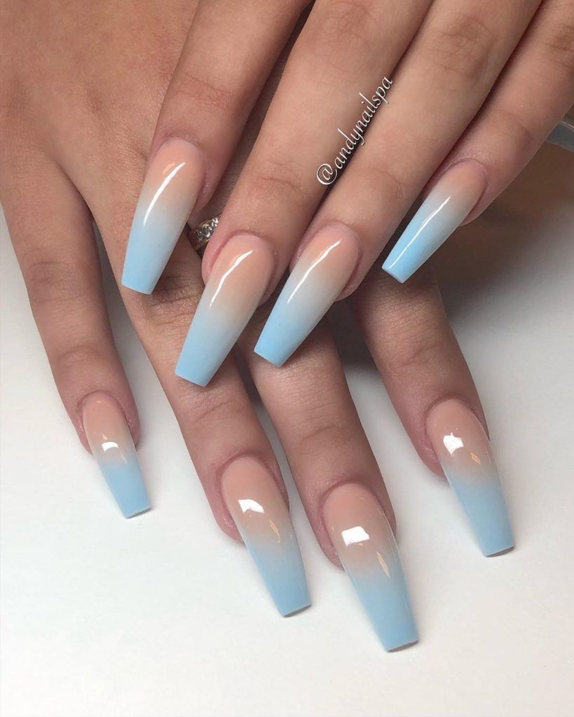 12 Best Pretty Nails In 2019 With Images Blue Acrylic Nails Ombre Acrylic Nails Summer Acrylic Nails