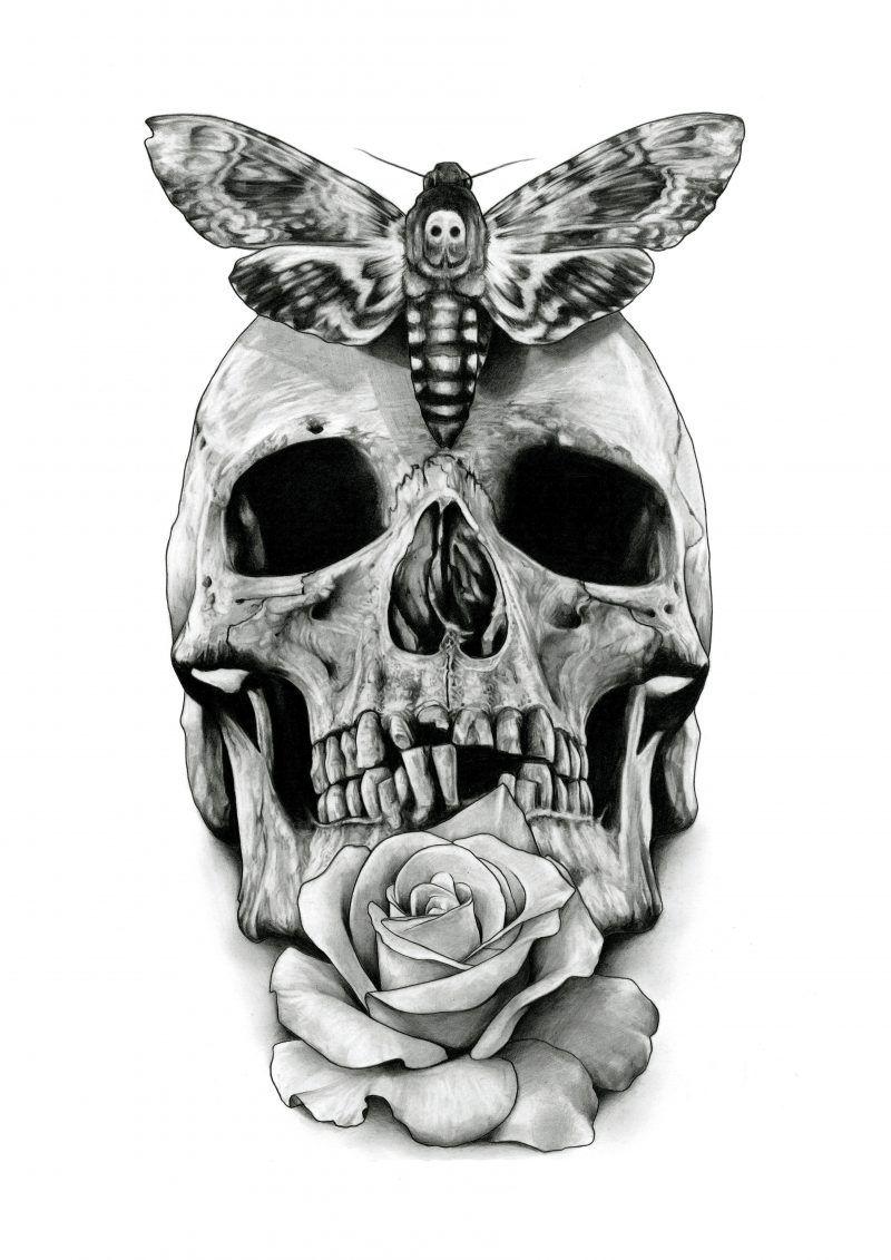 Ideen Tattoovorlagen Kostenlos Drawing 2 Totenkopf Tattoo