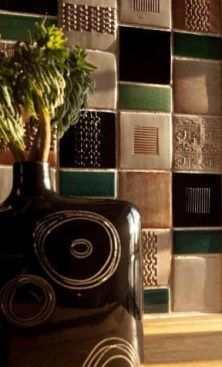 """Besso Ceramique Tiles - Diary of a Tile Addict """"Besso Ceramique is different to most tilemakers because it glazes using natural metal oxides rather than synthetic colourants. All Besso's tiles are hand-made in the company's atelier in Brittany..."""