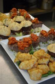 Overheerlijke mix van vlees en vis
