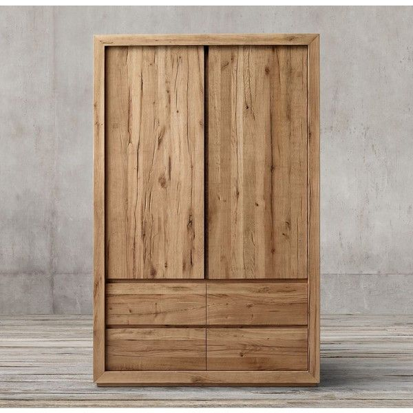 Reclaimed Russian Oak Armoire Featuring Polyvore, Home, Furniture, Storage  U0026 Shelves, Armoires · Restoration HardwareFurniture ...