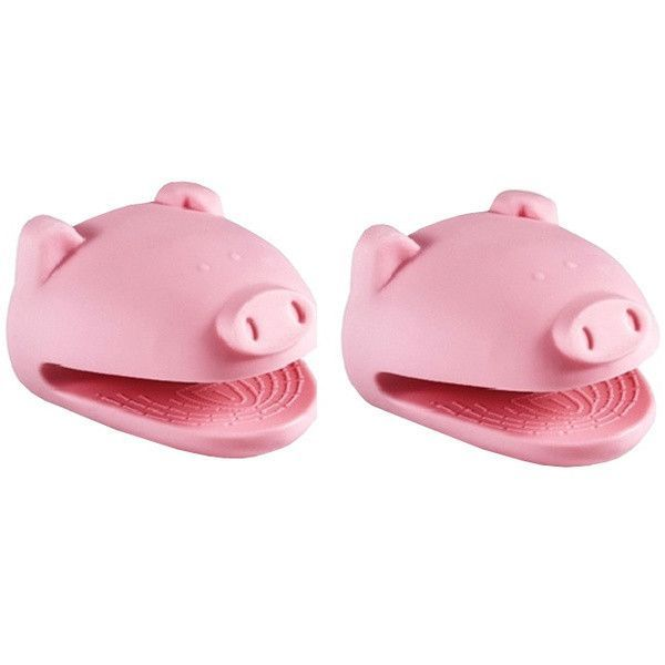 Pink Pig Silicone Pot Holders **Matching Set of 2**