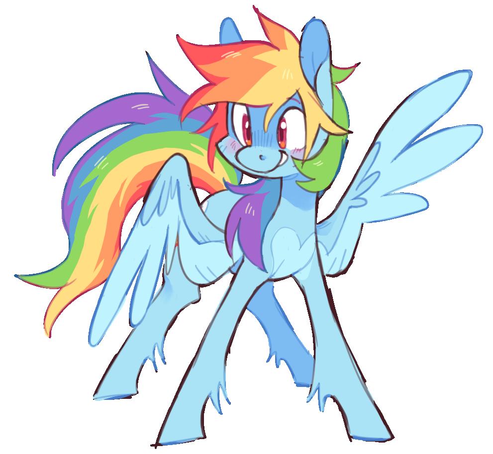 R A I N B O W D A S H My Little Pony Drawing Pony Rainbow Dash