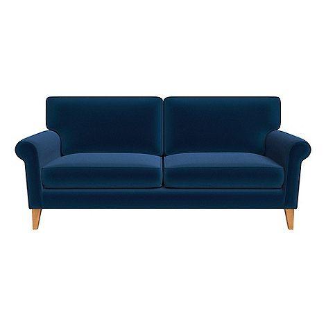 Debenhams 3 Seater Velvet Arlo Sofa Debenhams Sofa