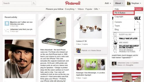 How to use Pinterest for your Blog    http://linkedinsiders.wordpress.com/2012/02/08/pinterest-button-auf-blog/