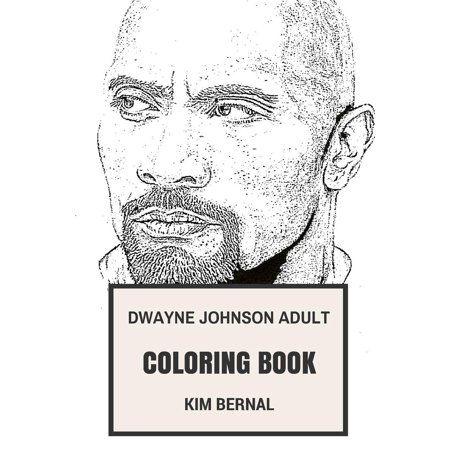 Books Dwayne Johnson Coloring Books Paperback Books