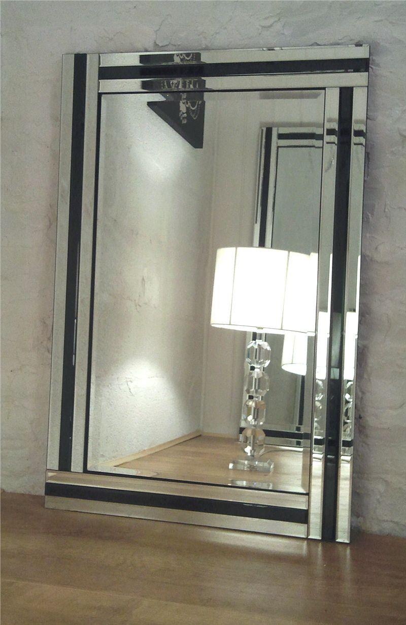 Fiorina Black Glass Framed Rectangle Bevelled Wall Mirror 40 X 28 V Large Ebay Goruntuler Ile Aynalar