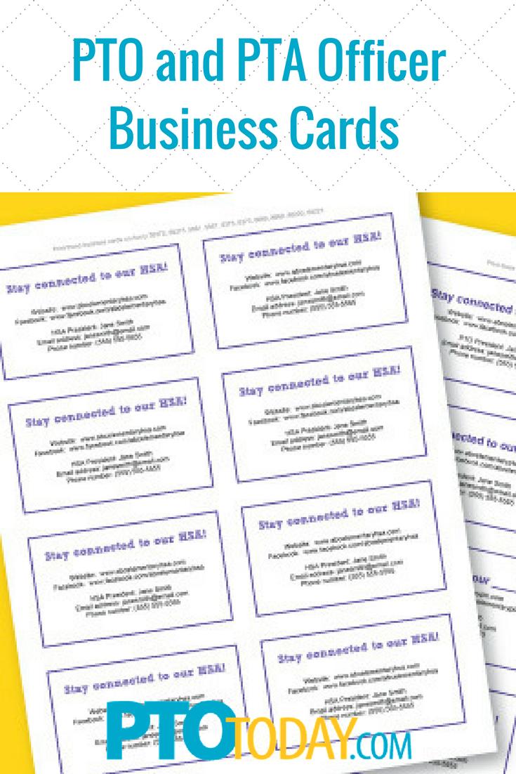 pta business cards