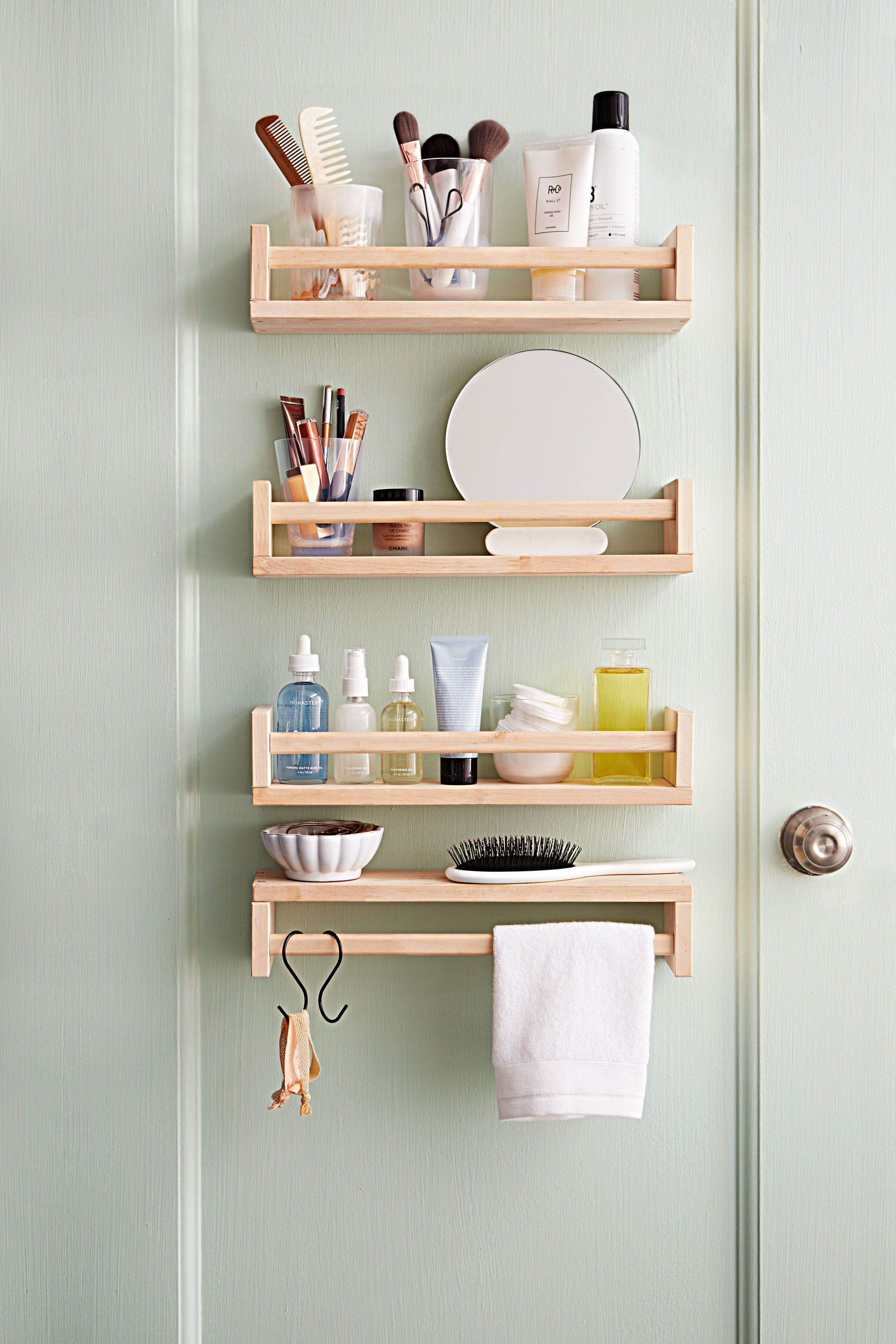 Instant Upgrades That Will Elevate Every Room In Your Home In 2020 Diy Bathroom Storage Small Bathroom Decor Ikea Spice Rack