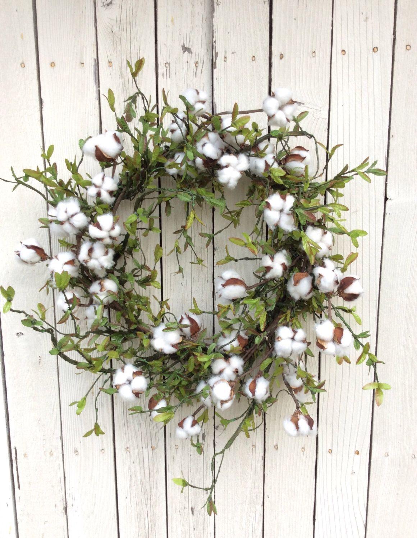 Cotton Wreathcotton Boll Wreathpreserved Cotton Wreathspring