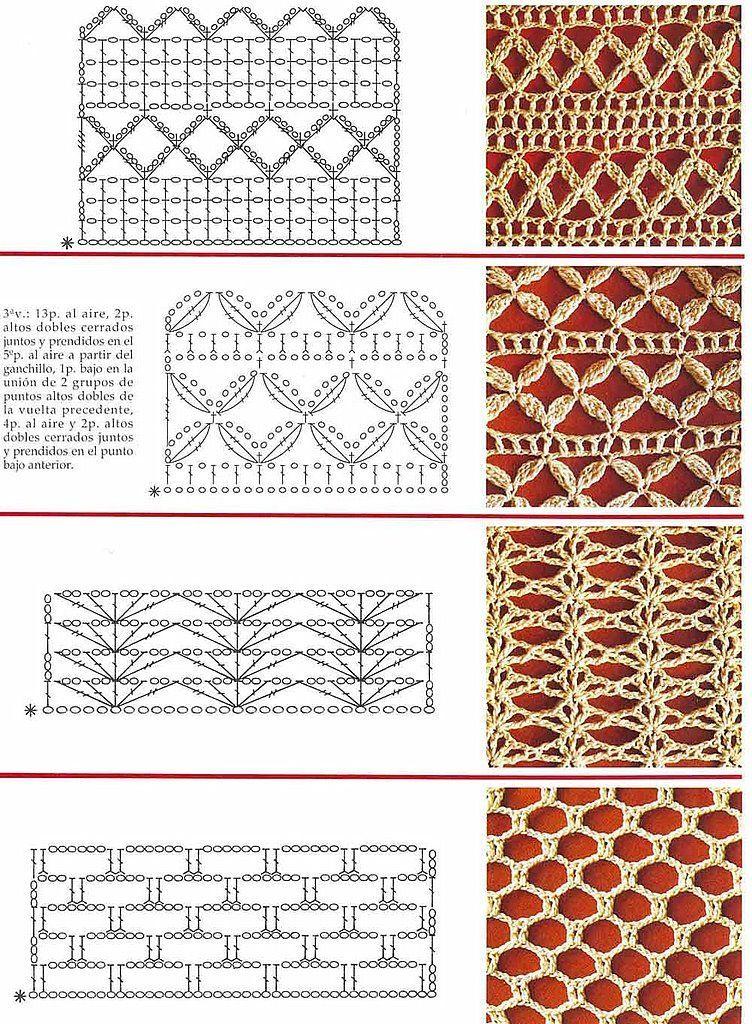 SOLO PUNTOS: Crochet puntos calados | Crochet y tejido con patrones ...