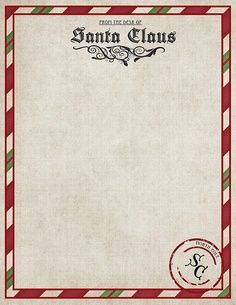 Printable Letter From Santa  Printable Letter From Santa  ItS A