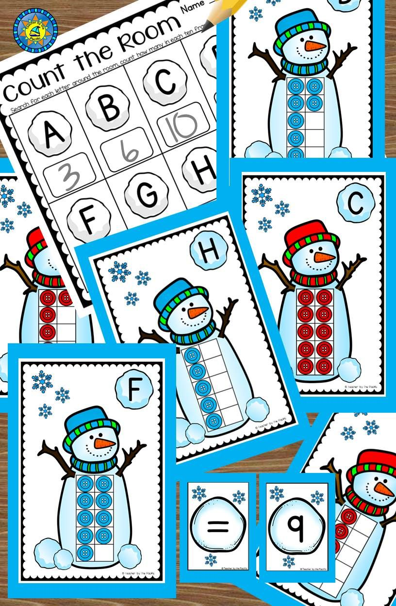 Count the Room – SNOWMAN Math – Ten Frames and Numbers 1 - 10 | TpT ...