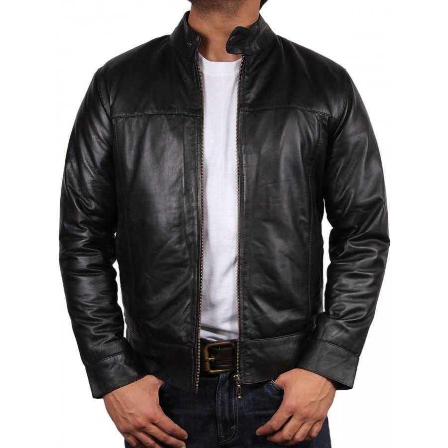BRANDSLOCK Mens Genuine Biker Leather Jacket Bomber Coat Designer