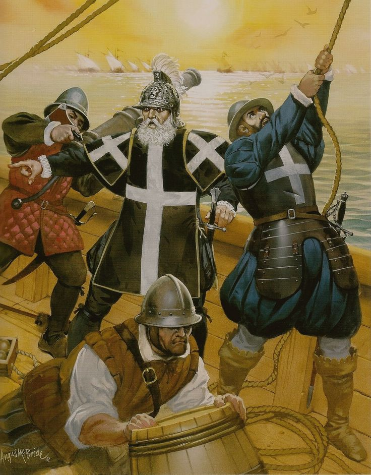 16th Century Sea Captain And Sailors By Angus Mcbride Medieval