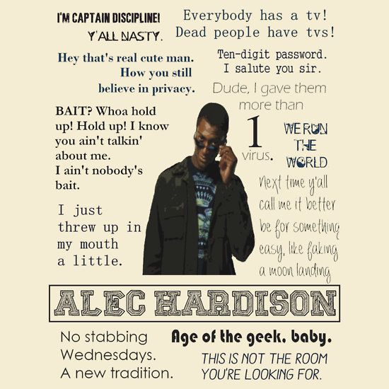 Leverage - Hardison quotes -- age of the geek, baby!