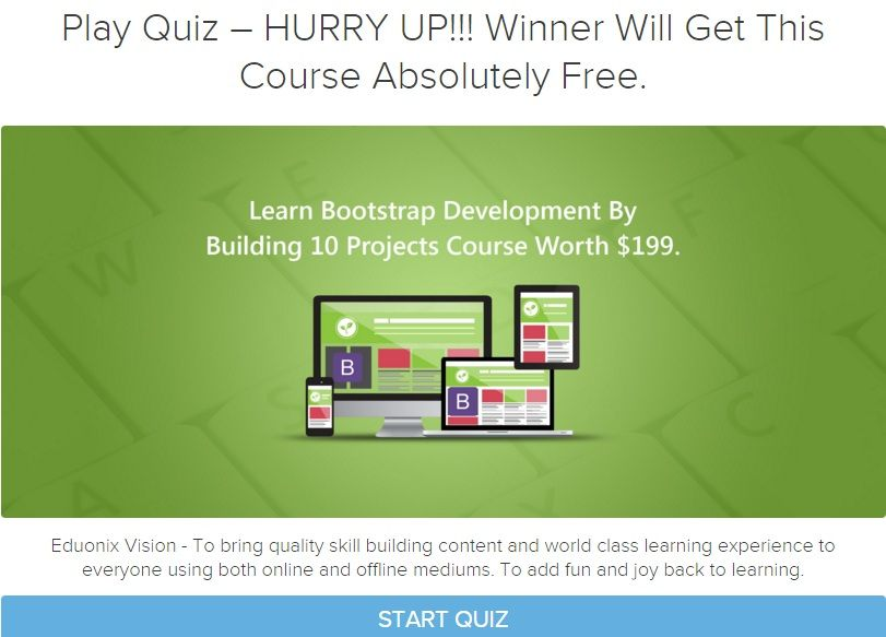 learn bootstrap development by building 10 projects