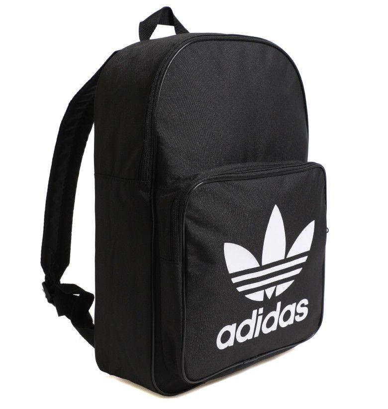 a7675e156164 adidas Originals Classic Trefoil Medium Black Backpack Bag School NWT  DJ2170  adidas  Backpacks
