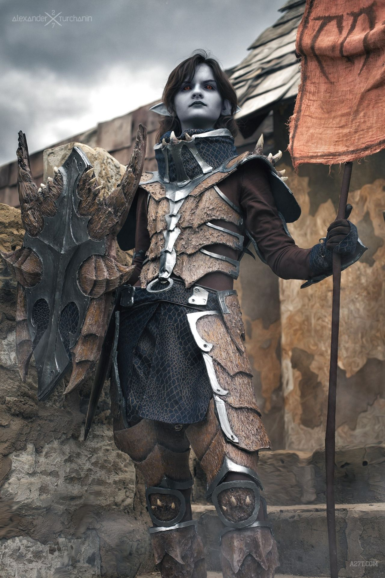 Whitedemon19deviant Skyrim Cosplay Dragon Scale Armor Cosplay Neither too many, neither too few of them.just right. pinterest