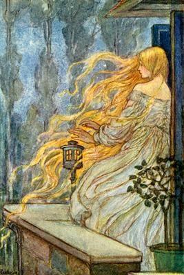 Rapunzel Fairy Tale Illustration