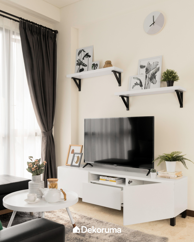 Bold Look Apartment Serpong Desain Interior Ide Apartemen Ruang Tamu Rumah