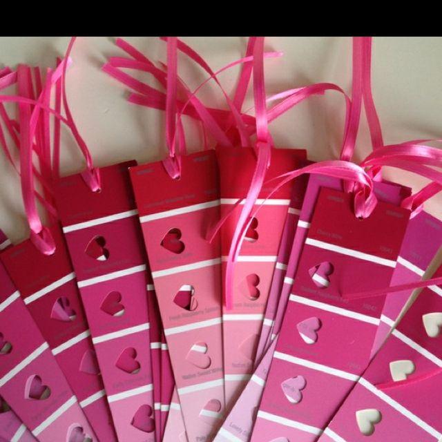 Paint sample bookmarks - free valentines idea