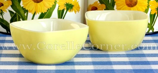 Pyrex Hostess Bowls, yellow 407